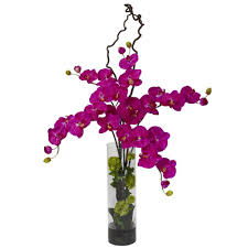 Orchid Flower Arrangements 47 In H Orchid Giant Phalaenopsis And Hydrangea Silk Flower