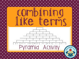 combining like terms activity pyramid style by the smart pug tpt