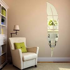 compare prices home decoration stickers mirror online shopping feather dressing mirror stickers stereo acrylic art wall home decoration for living room