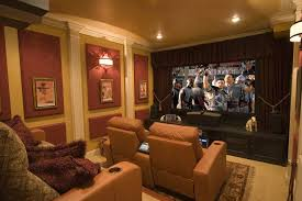 Home Theatre Wall Decor Home Theatre Ideas For Small Rooms Home Theater Contemporary With