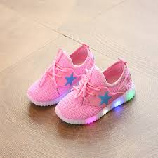 light up sneakers children s casual mesh light up shoes led baby s girls hip hop shoes