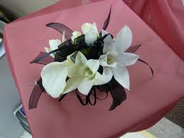 White Orchid Corsage White Orchid White Rose White Calla Lily Wrist Corsage With