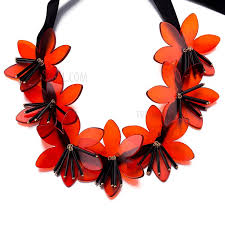 red necklace statement images Fsn327 pretty women 39 s statement necklaces bib plastic crystal jpg