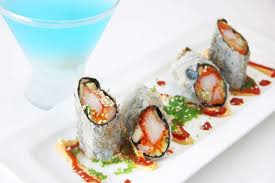 lychee martini asian mint texas roll with a blue lychee martini dallas tx
