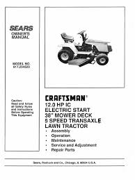 download craftsman tractor manual docshare tips