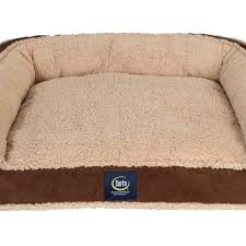 enhanced comfort shredded foam fuzzy couch dog bed serta pet beds