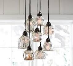 Pottery Barn Lighting Pendant Kenzie Mercury Chandelier Chandeliers Kitchens And Lights