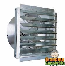 exhaust fan 24 bathroom kitchen garage attic inline wall home