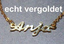 real gold name necklace real gold name necklace ebay