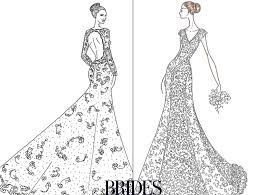 wedding dress sketches for jennifer and angelina bridal and formal