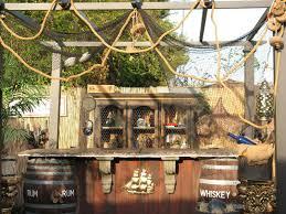 finished my pirate bar pirate back yard pinterest bar tiki