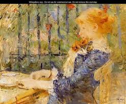Tea Berthe Morisot WikiGalleryorg The Largest Gallery In The - Berthe morisot in the dining room