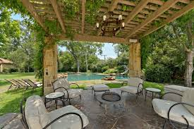 Backyard Outdoor Living Ideas Outdoor Living Room With Fireplace White Tile Floor Rattan Varnish