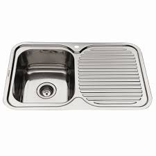 Everhard Mm NuGleam LH Single Bowl Stainless Steel Kitchen Sink - Kitchen bowl sink