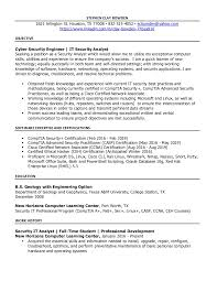 Information Security Analyst Resume Sample by Information Security Analyst Resume Contegri Com