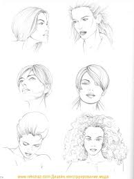 sketches of hair types of hairstyle figure drawing martel fashion