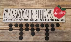 birthday board classroom birthday board w 22 chalkboard discs the painted knot