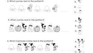 making patterns thanksgiving style free worksheet squarehead