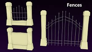 halloween fences 3d model low poly halloween pack cgtrader