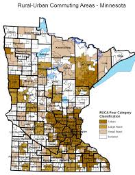 Mn Counties Map Defining What Rural Means Without Using The Word U0027zucchini