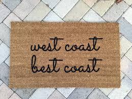 west coast best coast doormat funny doormat california