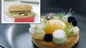cuisine a but top chef transforms mcdonald s big mac into haute cuisine but
