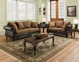Living Room Sets With Tables Dream Java Chenille Sofa U0026 Love Seat Living Room Furniture Set