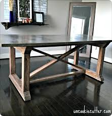concrete top dining table diy concrete dining table
