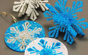 laser cut acrylic snowflake ornaments