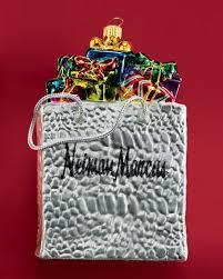 neiman shopping bag ornament