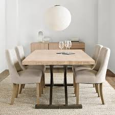 Frosted Glass Dining Room Table by Atelier Hampton Chic Table De Salle à Manger à Dessus En Bois