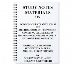 study notes material on economics entrance exam for dse price in