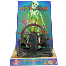 penn plax skeleton at wheel aquarium ornament aquar