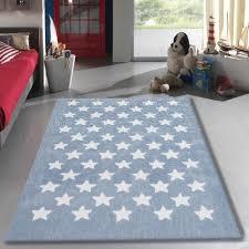 tapis chambre bébé tapis salon 120x170cm etoile chambre vintage en acrylique blue