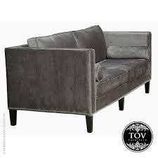 Grey Velvet Sofa by Oslo Grey Velvet Sofa Tov Furniture Allmodernoutlet
