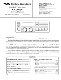vertex standard vx 4000 service manual