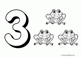 preschool number coloring pages funycoloring