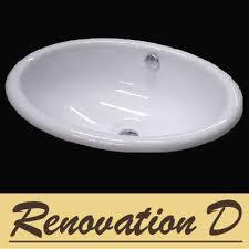 oval drop in sink oval drop in basin d243c renovation d bathroom kitchen