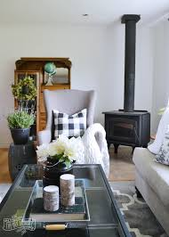 our guest cottage living room neutral mix and match style the