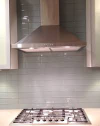 gray glass subway tile in fog bank modwalls lush 3x6 modern tile lush fog bank 3x6 gray subway tile kitchen backsplash installation closeup