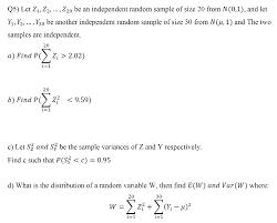 q4 let 1 a 2 x50 be an independent random sample chegg com