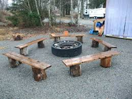 Firepit Benches Rustic Pit Curved Benches For Pits Bench Best Rustic