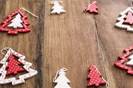 photo of red christmas tree ornament border free christmas images