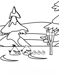 angry birds winter battles coloring free printable coloring