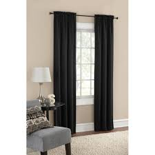 backyard mainstays blackout solid woven window curtains set of