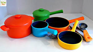 home pans learn colors with pots and pans playset toy food just like home