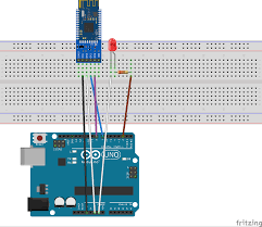 control an arduino via hm 10 ble module from a mobile on
