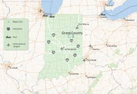 Chicago Airports Map by Infrastructure U0026 Utilities Grant County Indiana
