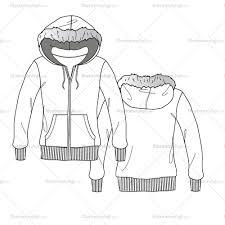 women u0027s fur hoodie fashion flat template fashion flats fashion