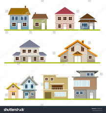 various houses style set one two stock vector 333981227 shutterstock